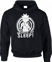 GENIUSES DONT NEED SLEEP HOODIE - INSPIRED BY RICK AND MORTY